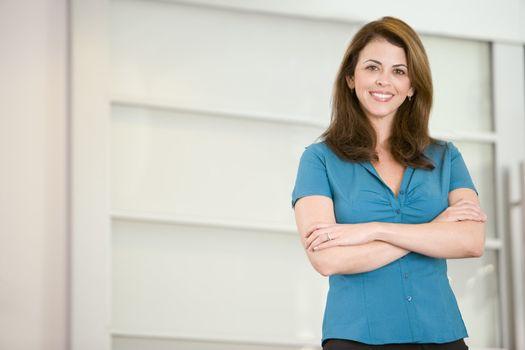 Businesswoman standing indoors