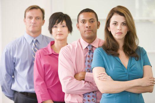Business team standing indoors