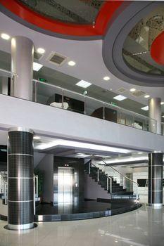 Lobby in a modern building