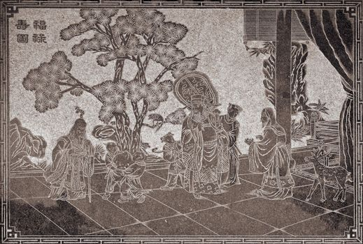 China tale stone carving