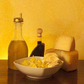 Some other Italian cheeses on orange gradient