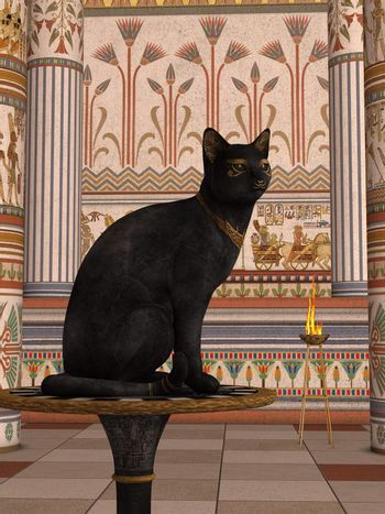 Bastet or Bast is the name commonly used by scholars today to refer to a feline goddess of Ancient Egyptian religion who was worshipped at least since the Second Dynasty.