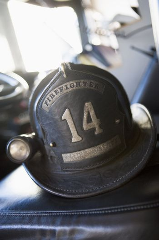 Vintage firefighter's helmet