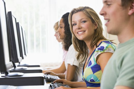 College students in a computer lab