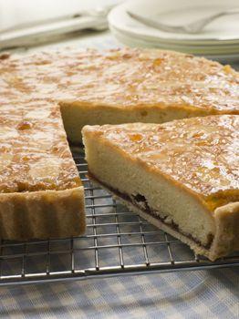 Slice of Bakewell Tart