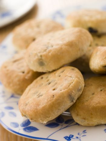 Plate of Eccles Cakes