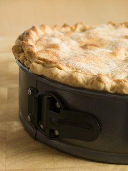 Deep Apple Pie in a Baking Tin