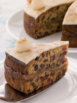 Slice of Simnel Cake