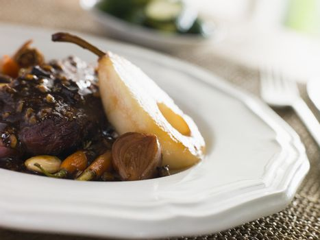 Duck Breast Pears and Rioja
