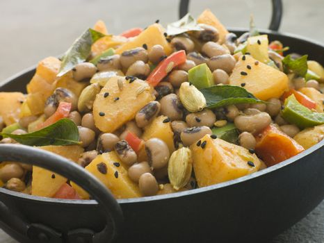 Lobia Aloo- Black Eyed Bean and Potato Curry