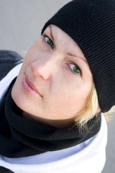 green-eyed blonde