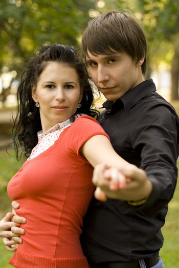 dansing young couple