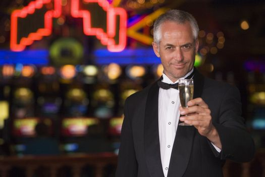 Man in casino with cigar