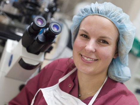 Portrait of embryologist