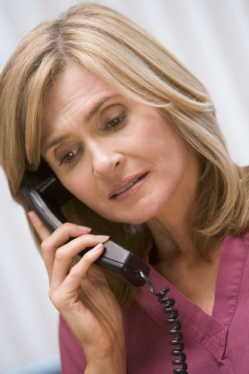 Consultant phoning client with bad news