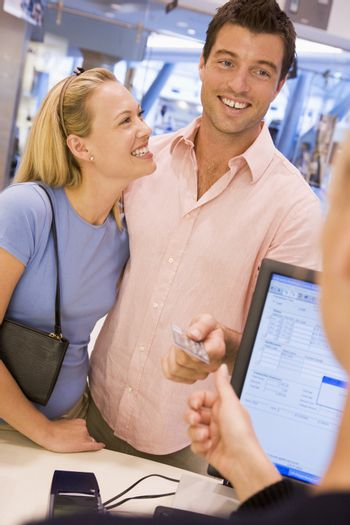 Couple shopping in store