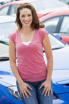 Woman choosing new car