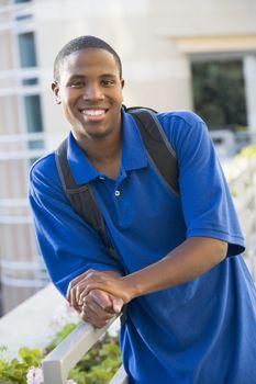 Male student outside