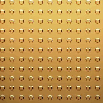 gold sheet with rivet heads