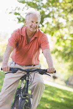 Senior man on a bicycle