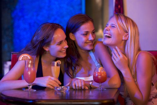 Young people at a bar