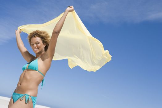 Young woman wearing bikini