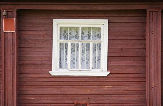 Window of rural house