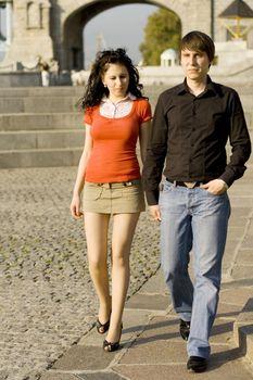 couple on summer walk
