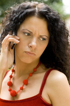 woman geting bad news