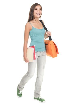 Female student walking