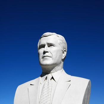 Bust of George Bush.