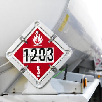 Flammable fuel sign.