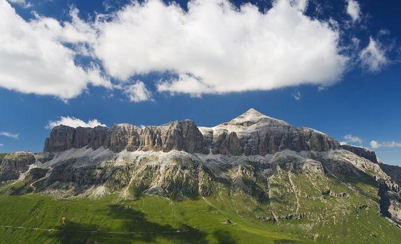 Sella mountains with Piz bo�