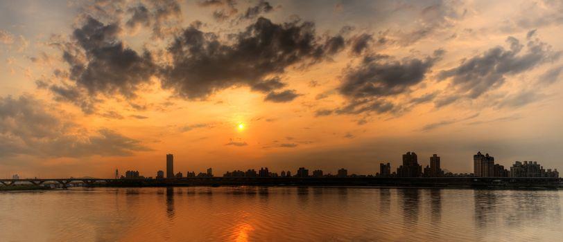 Panoramic cityscape