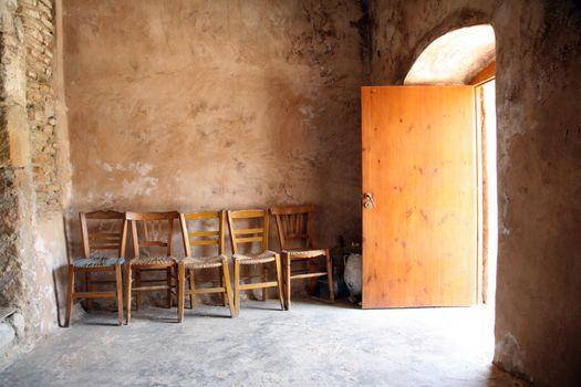 chairs inside chapel