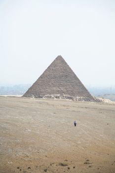 walking to pyramid