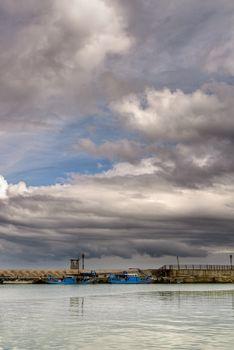 storm in harbor