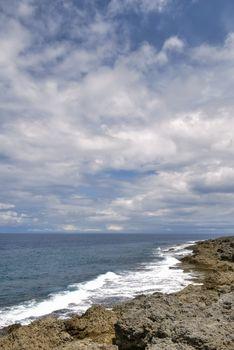 rock seashore