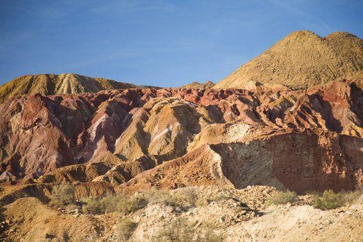 old mineral mine at mazarron murcia spain