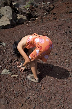 picking up stones