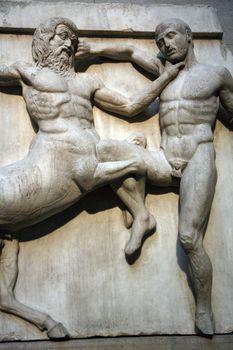 sculptures fighting