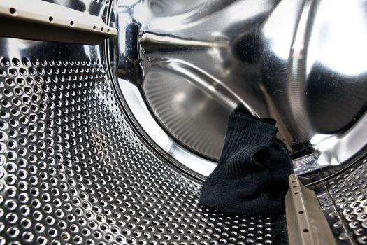 Sock in Washer