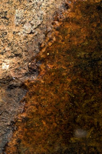 An abstract texture of rock and water