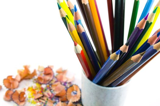pencils in container
