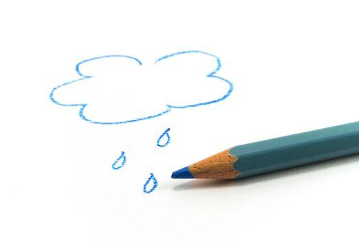 drawn blue cloud