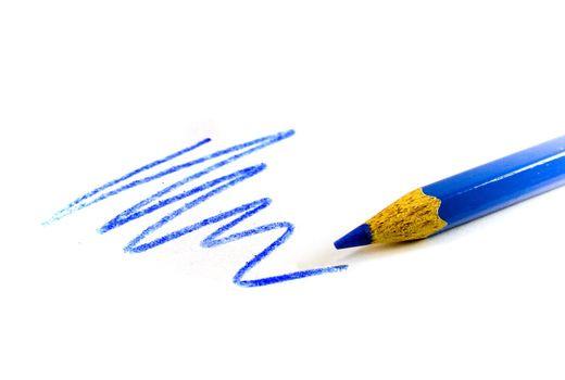 drawn blue zigzag