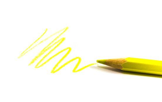 drawn yellow zigzag