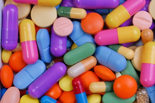 Pills macro, can be used as a background