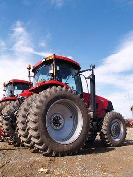 wheels on heavy duty farm equipment