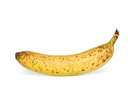 Isolated banana with spots
